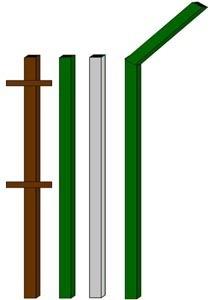 изготовление металлические столбы в Кургане