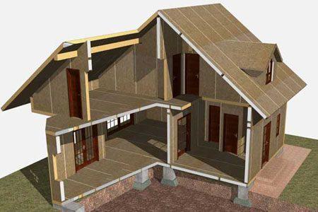 Строительство зданий на основе стеновых SIP панелей в Кургане